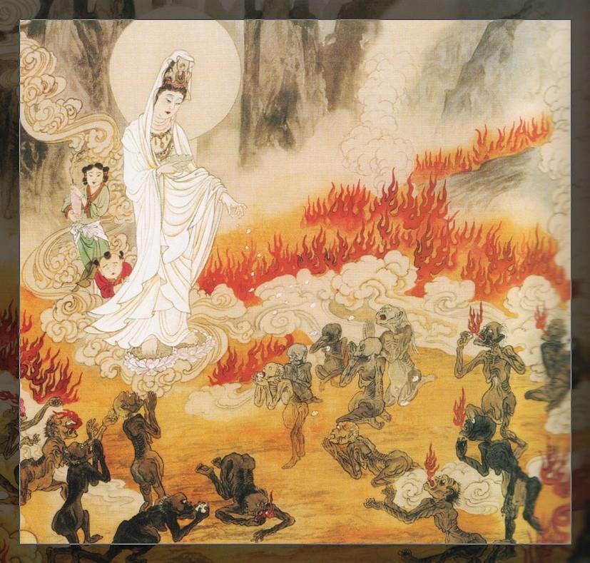 曾在佛寺这种清净地方行淫,所以受此报应,将来还会受地狱的果报.