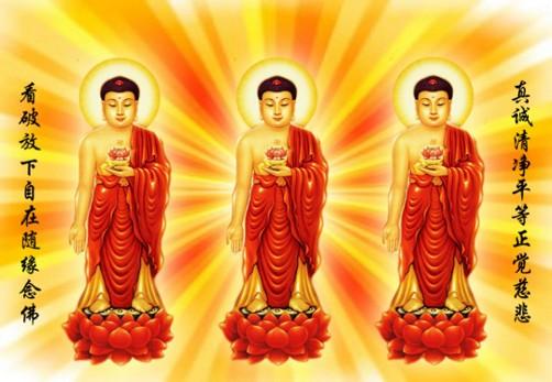 阿弥陀佛临终接引的佛力加持